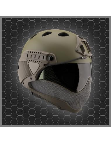 Warq casque - masque vert OD