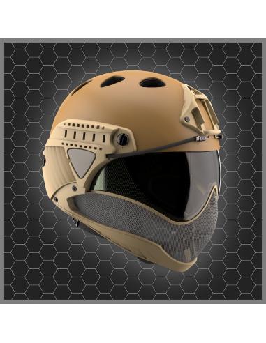 Warq casque - masque TAN