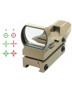 Multi Dot Reflex Red/Green Dot Sight w/Mount (Desert Color)