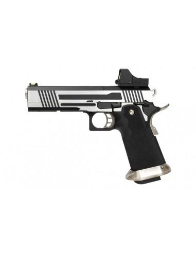 Pistolet Armorer Works - Hicapa 5.1 Split slide+ red dot -Silver-GBB