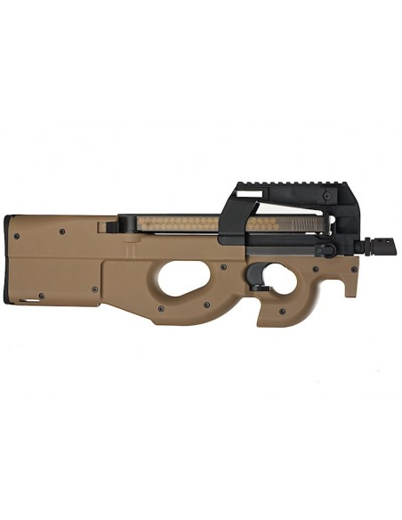 WE p90 Gas Blow Back Rifle - Tan