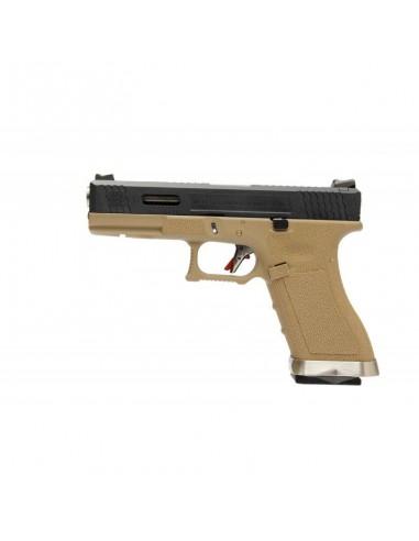 WE G17 T2 Gas Blow Back Pistol - Tan