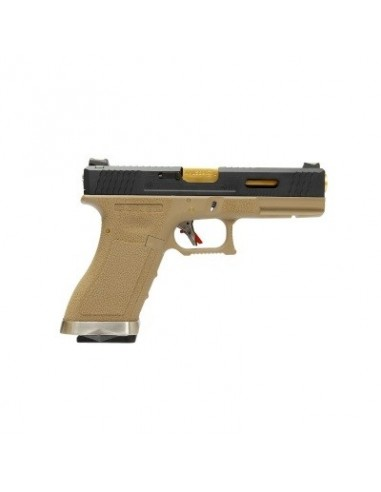 WE G17 T6 Gas Blow Back Pistol - Tan