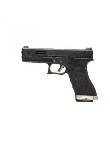 WE G17 T5 Gas Blow Back Pistol - Black